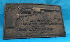 VTG Rare Antique 1960's **COLT NAVY 36 CALIBER** Bay State Jewelry BELT BUCKLE