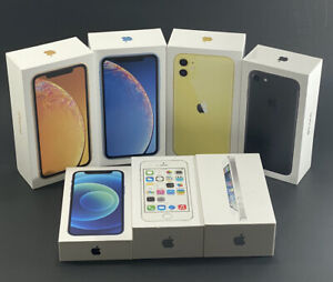 LOT of 7 Empty Boxes For iPhone 5 5S 7 XR 11 12 including some books & stickers.