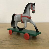 Vintage Hallmark Horse Pull Toy On Wheels 1985