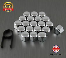 20 Car Bolts Alloy Wheel Nuts Covers 19mm Chrome For  VW Polo MK4 9N3