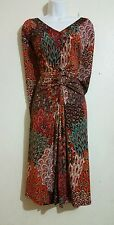 NorthStyle Women's Plus Size 2X Paisley Pattern ruched Dress