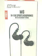 MEElectronics M6-BK (black) Earphones Sport In-Ear Headphones EarBuds