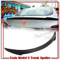 Carbon For Tesla Model S Sedan V Style Trunk Spoiler 70D 85D P85D 2016