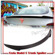Carbon For Tesla Model S 70D 85D Sedan V Trunk Boot Spoiler 12-18 70