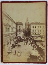 Toulouse Place du marché Vintage albumine ca 1890