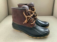 Sperry Saltwater Duck Boots Brown/Brown Size 5 NWOB