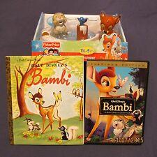 Disney Bambi Lot DVD 2-Disk Edtn Golden Book Little People Set Boy Girl New Used