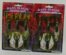 (2) Bass Magic Fighting Craw Soft Plastic Fishing Lures Lot of 2 Packs