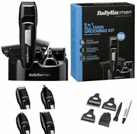 BABYLISS MEN 7056CU 8-IN-1 GROOMING KIT FACE BODY HAIR TRIMMER CLIPPER SHAVER.
