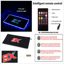 2x 7 Color LED Floor Mat Atmosphere Lamp With Cigarette Lighter For Car Interior