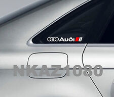 AUDI Vinyl Decal sticker Sport Racing window emblem WHITE/RED