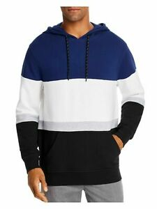 Pacific and Park Mens Navy Color Block Classic Fit hoodie L