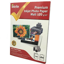 INKRITE PROFESSIONAL INKJET PHOTO PAPER / 100 SHEETS MATT 120GSM A4