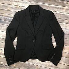 Express Design Studio Women's 6 Black Pinstriped 1 Button Blazer Suit Jacket