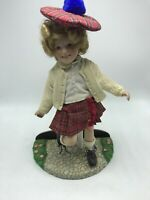 "Danbury Mint Shirley Temple 11"" Porcelain Doll ""Little Lass"" w/ Stand"