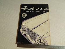 MANUALE USO MANUTENZIONE ORIGINALE 1965 LANCIA FULVIA