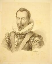 LITHOGRAPHIE J-B MAUZAISSE ?Henri de la Tour d'Auvergne vicomte de Turenne? 1825