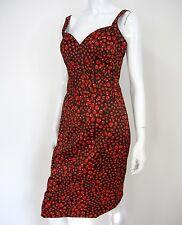 JESSICA SIMPSON SPAGHETTI STRAP CORSET DRESS SIZE 8, RED/BLACK