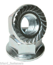 M6 (6mm) Serrated Hexagon Nut with Toothed Flange A2 stainless DIN 6923 - 20PK