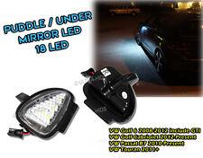 VOLKSWAGEN GOLF MK6 GTD GTI TOURAN UNDER MIRROR LED PUDDLE LIGHT LAMP WHITE