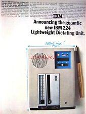 Vintage 1965 'IBM 224' Dictating Unit Computer Advert - Original Photo Print AD