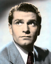 "LAURENCE OLIVIER ENGLISH ACTOR MOVIE STAR 8x10"" HAND COLOR TINTED PHOTOGRAPH"
