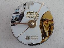 CUSTOM STAR WARS R2D2/C3PO ACTUAL/ORIGINAL DVD CLOCK