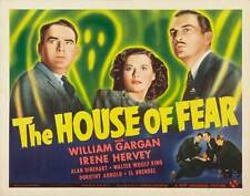 THE HOUSE OF FEAR Movie POSTER 22x28 Half Sheet