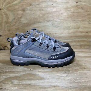 Salomon Expert Women's Low Hiking Shoes Size 10 Blue Gray 872148