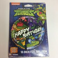 "Rise Of The Teenage Mutant Ninja Turtles Foil Balloon Party 18"" Happy Birthday"