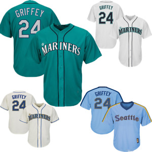 Ken Griffey Jr #24 Seattle Mariners Classic Baseball Jersey All Colors
