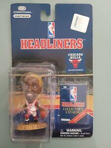 NBA HEADLINERS DENNIS RODMAN FIGURINE CHICAGO BULLS 1997 NEW ON CARD MIB