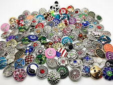 wholesale 100pcs/lot 18mm interchangeable charms buttons fits diy snaps jewelry