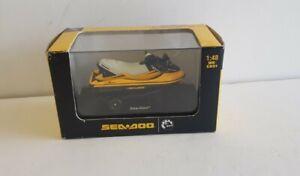 NewRay 1:48 Die Cast Ski Sea Doo GTX Yellow Jet-Ski Bombardier on trailer 2005