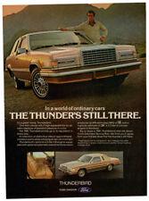 1981 FORD Thunderbird Vintage Original Print AD - Brown car photo thunder still