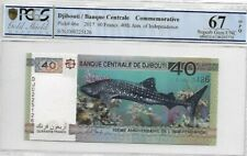 """2017 Djibouti 40 Francs PCGS67 OPQ <P-46a> """"COMMEMORATIVE"""" 40th of Independence"""