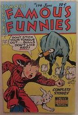 Famous Funnies Issue #194 - Golden Age Comic Book From 1951 - Rare 10 Cent Cover