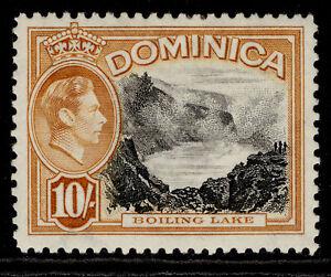 DOMINICA GVI SG108a, 10s black & orange-brown, M MINT. Cat £22.