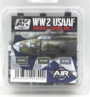 AK Interactive AK2200 WW2 USAAF Aircraft Colors Vol 1 (Air Series) Acrylic Paint