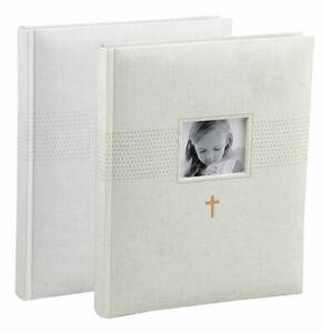 Kommunion Fotoalbum in 22x27 cm 40 weiße Seiten Konfirmation Foto Album