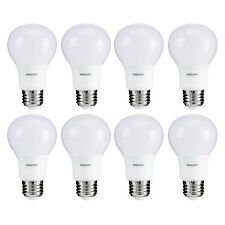 Philips 5.5 Watt A19 40W Replacement 450 Lumen Soft White LED Light Bulb, 8 Pack