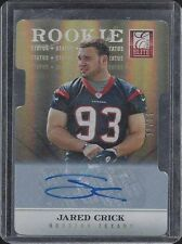 JARED CRICK 2012 ELITE STATUS GOLD DIE CUT ROOKIE AUTO RC #D 13/24