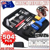 504pcs Watch Repair Kit Remover Tools Set Case Opener Spring Pin Bars Watchmaker