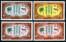 """Koweït 193-196,MNH Fao """" Liberté De Hunger """" Campaign. Paume,Vache,Mouton,1963"""