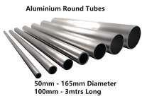 Aluminium Round Tube Hollow Pipe 35mm - 165mm Multiple Sizes & Lengths GS