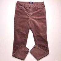 Old Navy Womens Size 10 Mauve Velvet RockStar Stretch Skinny Pants Mid Rise