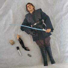 "SIDESHOW STAR WARS Anakin Skywalker 12"" 1/6 ACTION FIGURE JEDI MASTER LOOSE"