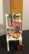 New 1:12 scale Dollhouse Chair, Wish List and Food for Santa on Christmas Eve.