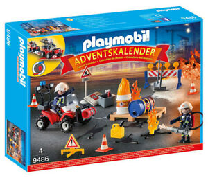 PLAYMOBIL  Construction Site Fire Rescue with Pullback Motor 9486 PLAYMOBIL
