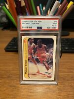 1986 Fleer Sticker #8 Michael Jordan RC Insert PSA 7